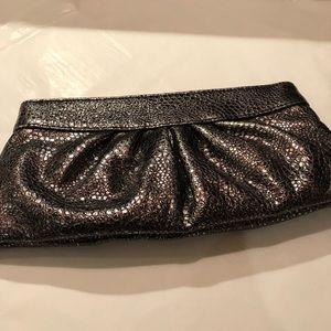 Lauren Merkin leather print clutch bag